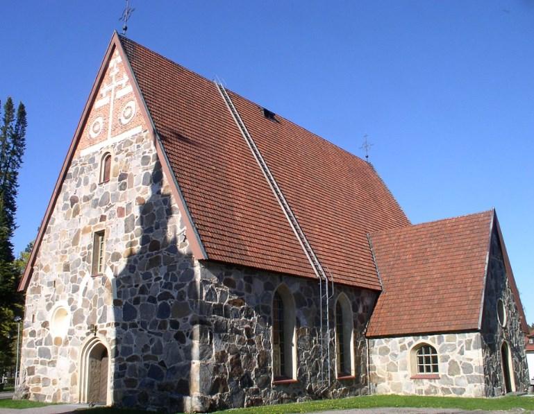 Sääksmäen kirkko on kaunis.